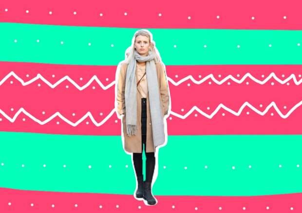 Как носить платок с пальто: свежие идеи для весны 2020