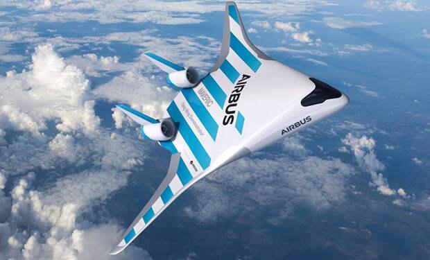 Новый Аэробус не будет иметь хвоста, а сам будет похож на одно большое крыло
