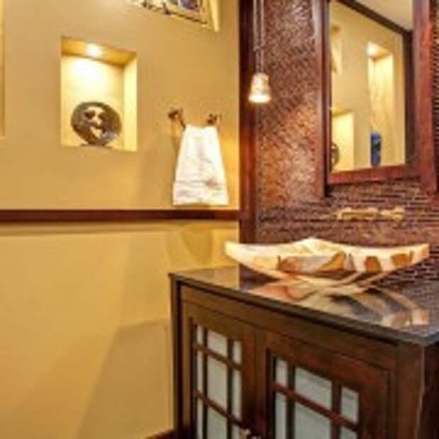 Осветительные приборы в ванной в восточном стиле