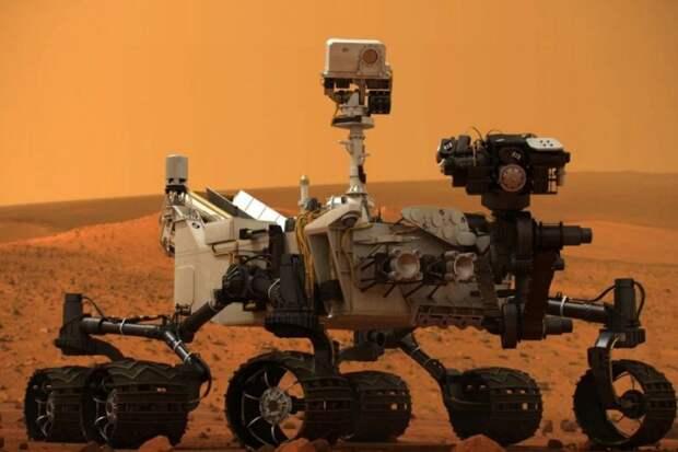 """Марсоход NASA """"поймал"""" марсианского """"дьявола"""" и показал необычное фото"""