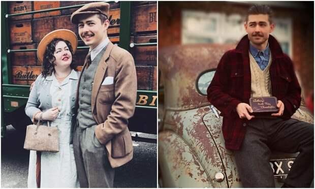 Влюбленные из США живут в стиле 1930‑х годов – винтажная одежда, дом, машина