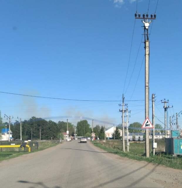 Трава загорелась на территории бывшего арсенала в удмуртском Пугачево