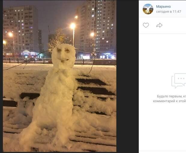 Фото дня: в Марьине отдыхают даже снеговики