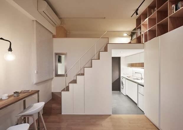 Хозяйка квартиры часто путешествует и интерьер оформляли в соответствии с ее образом жизни дизайн, идея, квартира, комната, планировка, пространство, студия