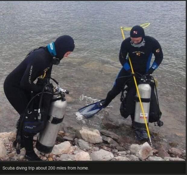 Подводная находка 12-летней давности (9 фото)