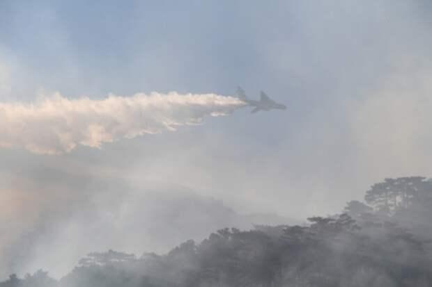 В Ялте авиация продолжила тушение лесного пожара 2