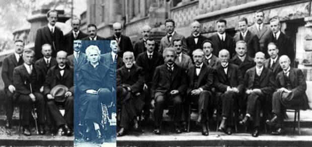 Мария Кюри среди участников конференции о квантовой механике, 1927 год. Фото: cambridgeblog.org