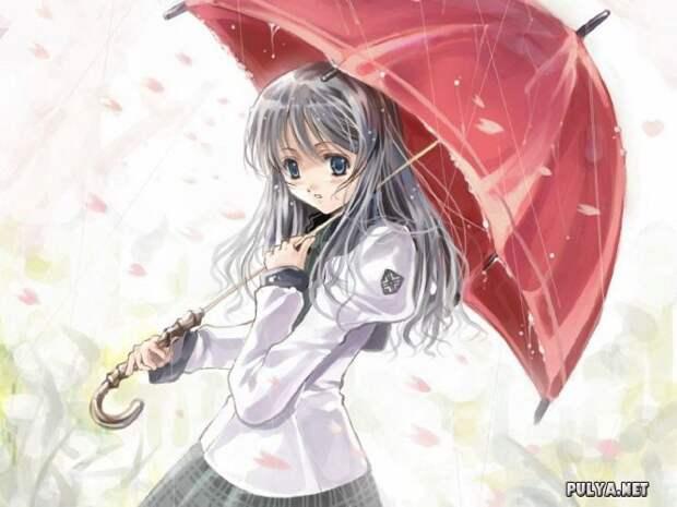 Картинки красивых девушек из аниме. 23 рисунка