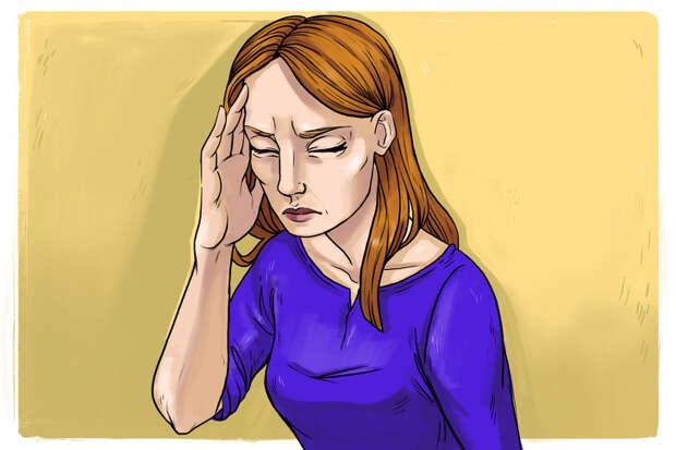 1. Головная боль или чувство давления в голове.