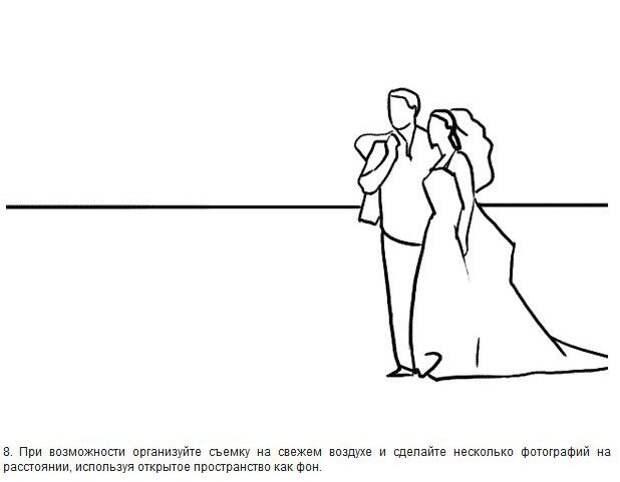 Лучшие позы для свадебной фотографии (21 картинка)