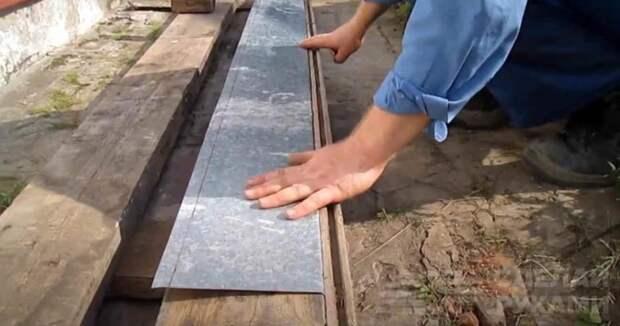 Простейший листогиб своими руками — из бревна и пары досок