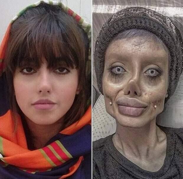 Зомби-копия Анджелины Джоли умирает от коронавируса в иранской тюрьме
