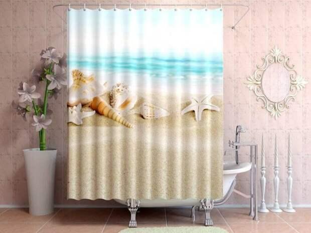 Занавеску для душа нужно сушить в расправленном виде. / Фото: otvet4ik.info