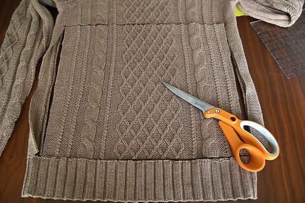 Сумка для ноутбука, сшитая из свитера своими руками