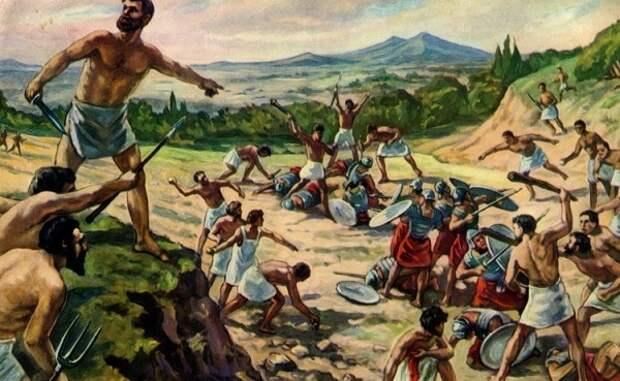 Восстание под предводительством Спартака.
