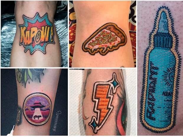татуировка в виде нашивки