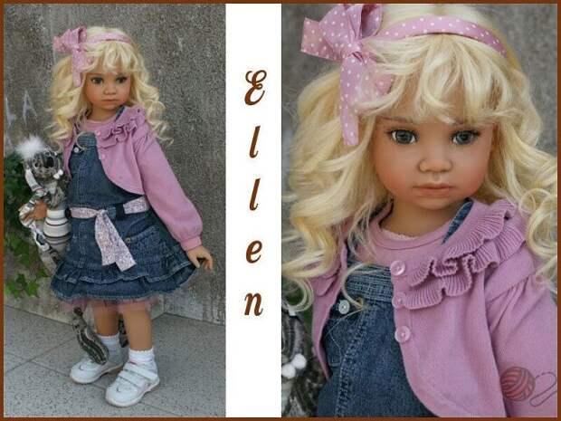 Анжела Суттер работает преимущественно над большими куклами-детьми из винила, особенное внимание уделяя этно-куклам.