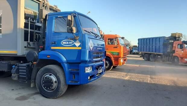 Регоператор закупил новый мусоровоз для работы в Подольске