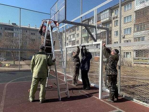 Когда в Красноярске завершится ремонт уличных спортплощадок