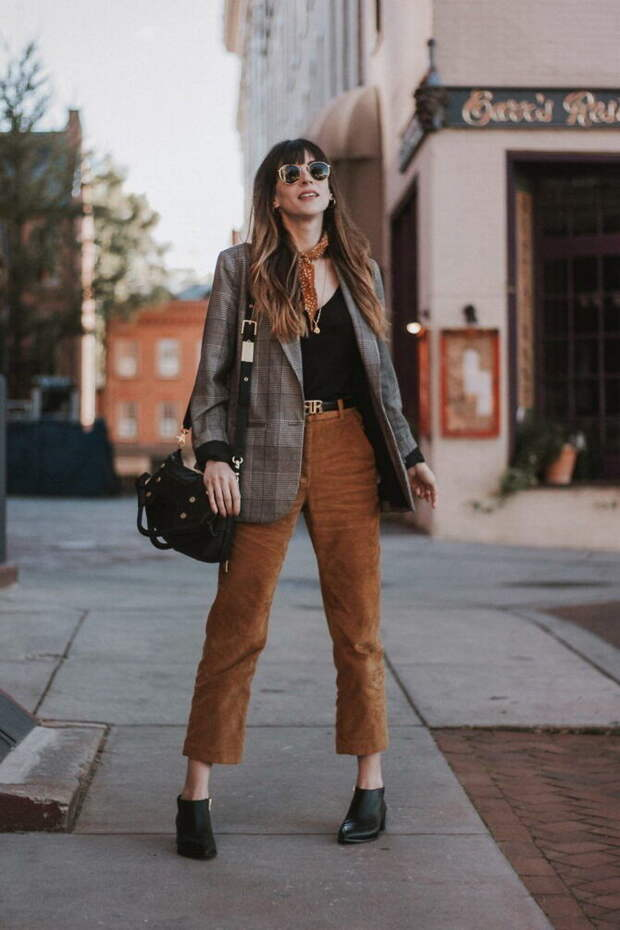 Вельветовые брюки в зимнем сезоне