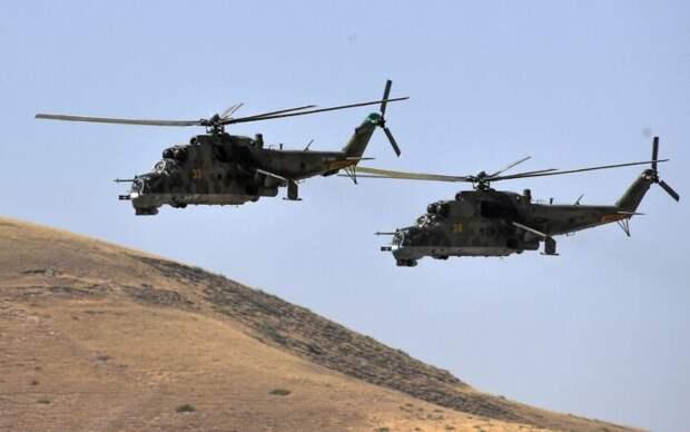 Таджикистан применил на границе с Киргизией российские военные вертолёты