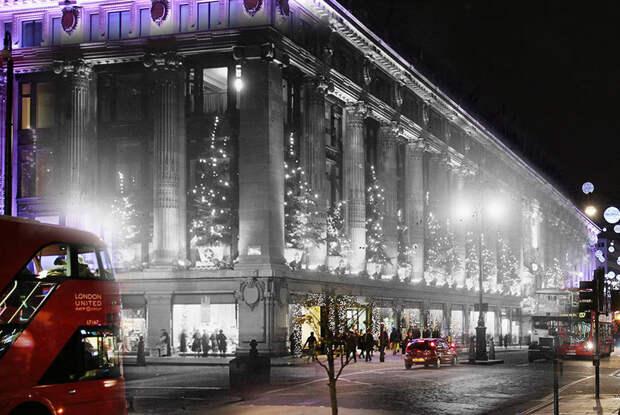 Фотограф показал, насколько чудесны праздники, совместив старые и новые фото Лондона