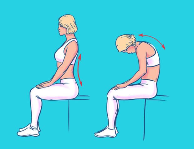 комплекс упражнений для спины в офисе