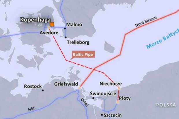 Baltic Pipe окажется для Польши практически бесполезен