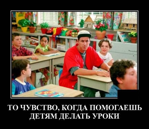 Демотиватор про школьные уроки