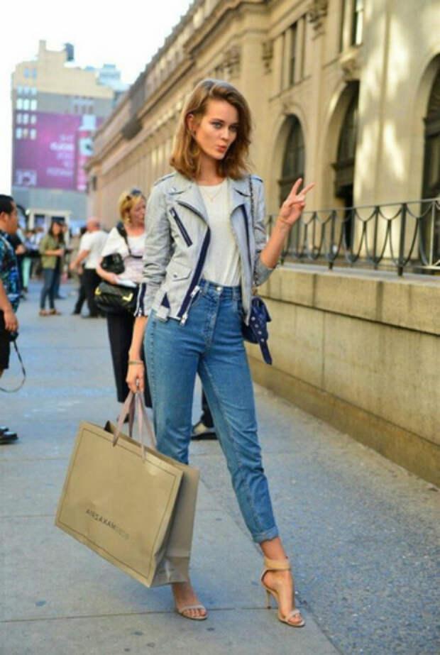Штаны с завышенной талией. | Фото: Ladycharm.net.