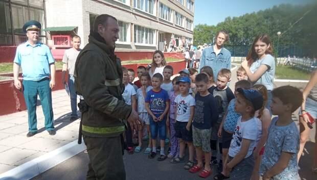 Пожарные провели учения с эвакуацией в детском лагере «Мечта» в Подольске