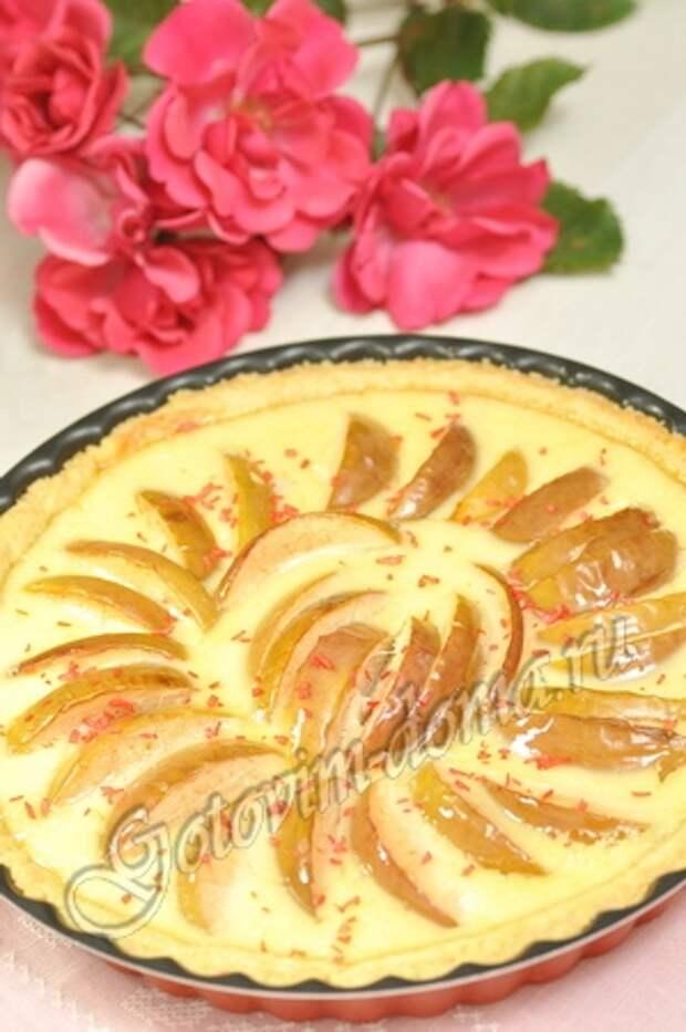 Яблочный пирог со сливками