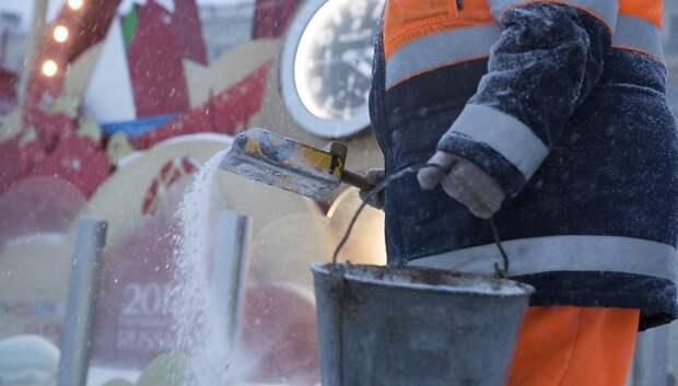 Противогололедный реагент опробуют на Старосимферопольском шоссе зимой