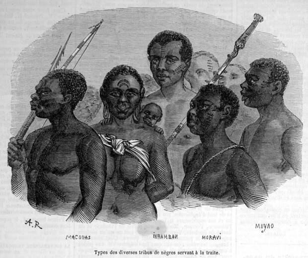 Типичные представители порабощенных этнических групп (Восточная Африка, Верхний Нил, 1840-е годы)