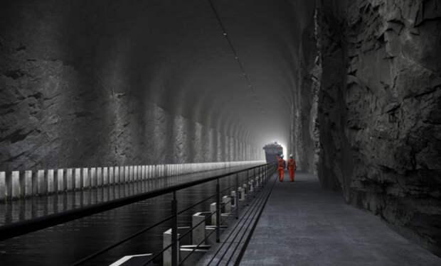 Первый в мире тоннель для кораблей изнутри. Норвежцы показали изображения проекта