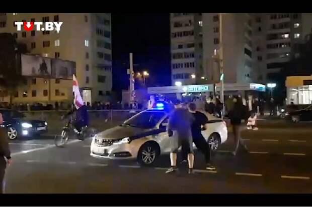 Минск. Вчерашние нападения БЧБ орков на ГАИ и ОМОН