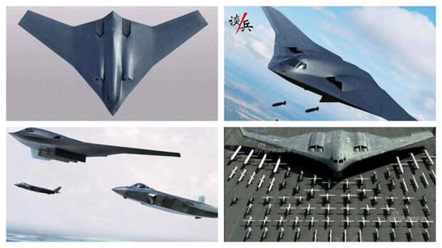 В Китае показали облик своего нового стратегического бомбардировщика Xian H-20