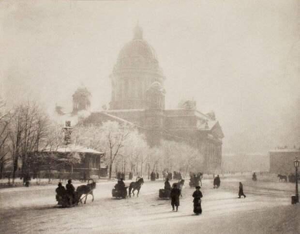 Вид на Исаакиевский собор, 1908. <br>