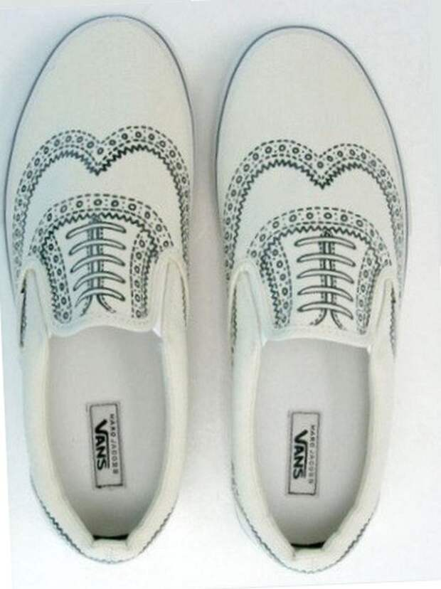 Нарисованные ботинки