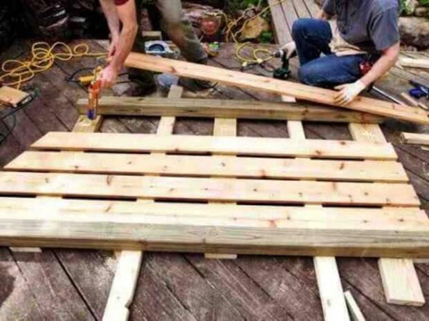 Как сделать основание для дровника на даче (этот же способ подойдет для сооружения стенок)