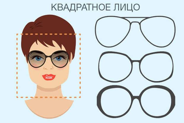 Фото очки для квадратной формы лица