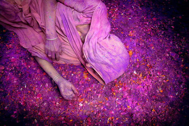 Праздник красок Холи. Вриндаван, Индия красота, путешествия, фото