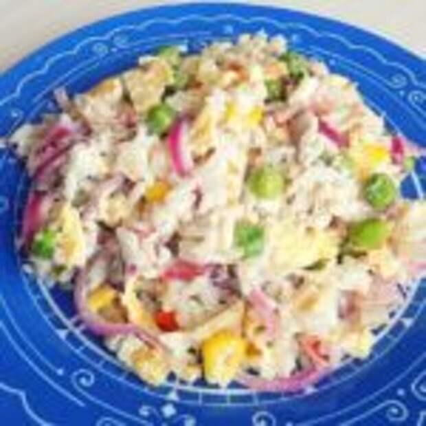 Салат из замороженной овощной «Гавайской смеси» с курицей