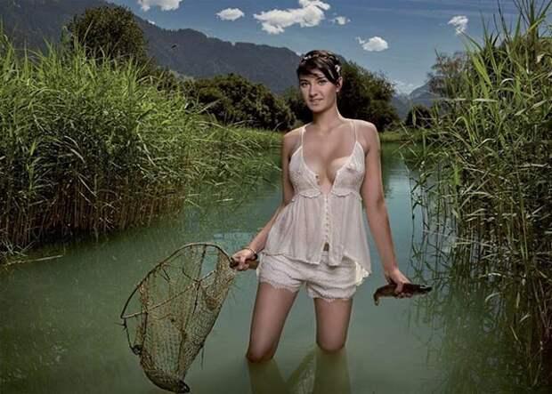 Сексуальлные швейцарские фермерши, календрь, фото 4