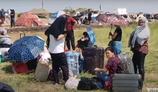 Под Бузулуком вновь застряли мигранты изУзбекистана иКиргизии