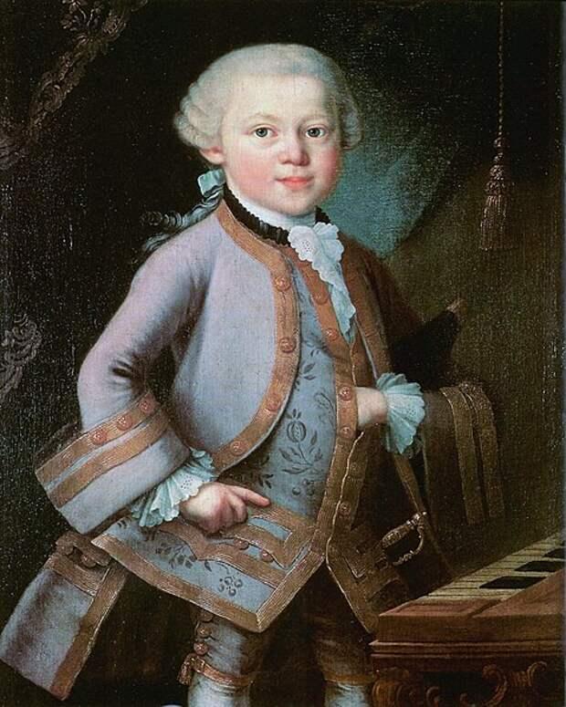 Моцарт в детстве.
