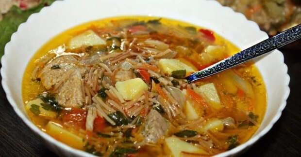 Суп с жареной вермишелью. Отменное первое блюдо, которое никогда не надоест 4