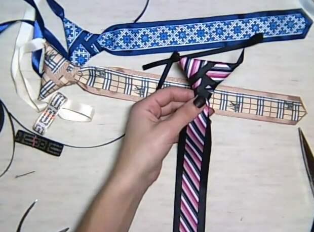 галстук для первоклассника своими руками