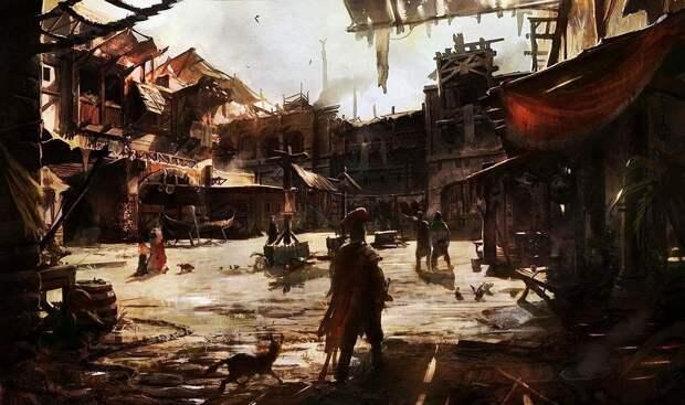 Древнеримские трущобы. Картина современного художника.