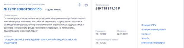 Пенсионный фонд потратит на свой пиар больше 260 млн рублей.